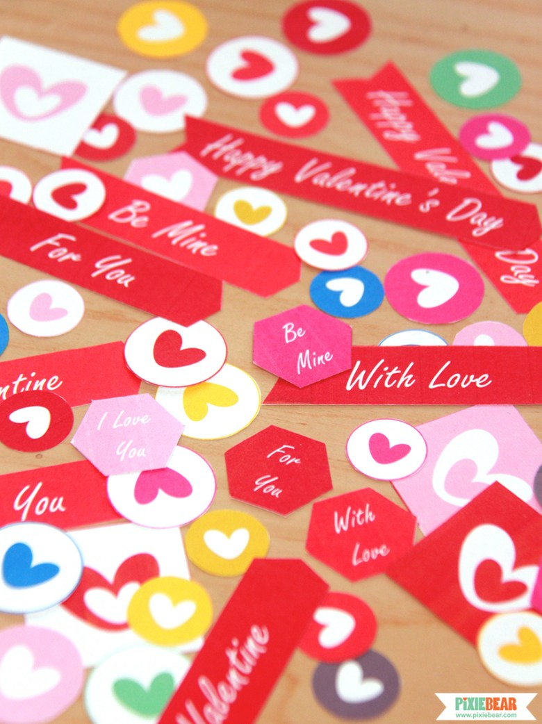 Personalized Valentines Gift Stickers by Pixiebear Party Printables