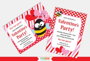 Valentines Day Party Invitations by Pixiebear Party Printables