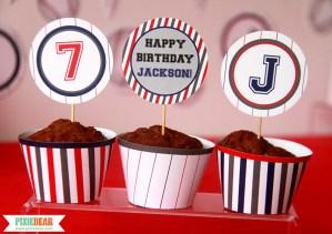 Baseball Birthday Decorations by Pixiebear.com