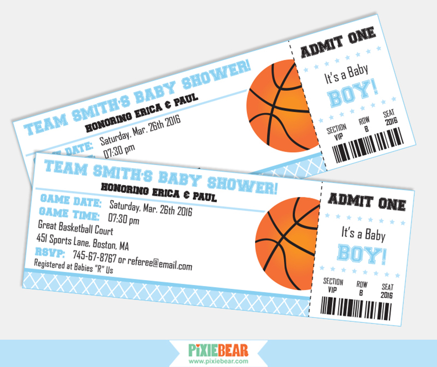 basketball baby showers - Basketball Party Invitations