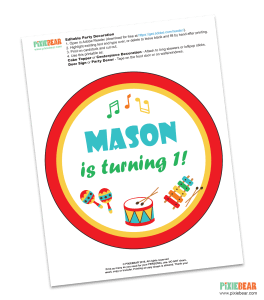 Music Birthday Free Printable by Pixiebear_Red