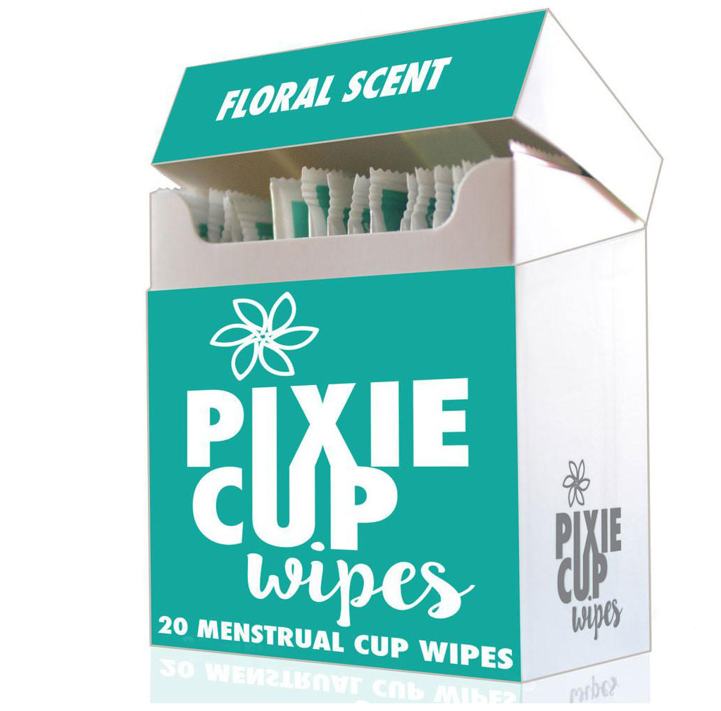Pixie Cup Sterilizing Wipes