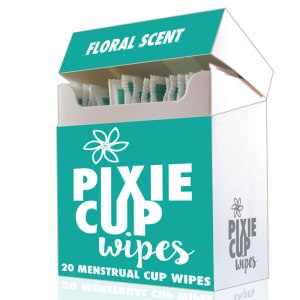 Menstrual cup wipes for cleaning Pixie Cup