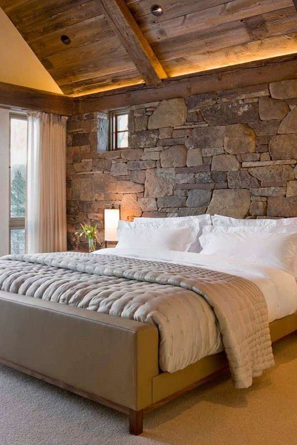 Gorgeous Home Decor With Exposed Stone Walls
