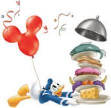 Donald duck Dining Cartoon