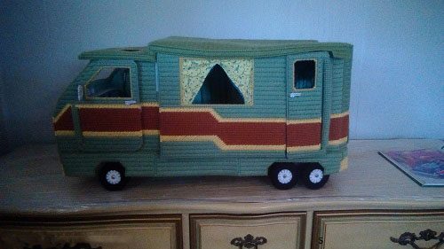 Plastic Canvas Barbie Doll Camper