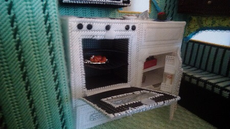 Plastic Canvas Camper Kitchen.