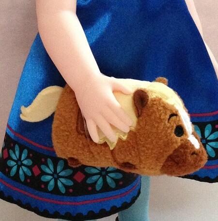 Elsa holding Phillipe Tsum Tsum.