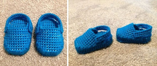 Plastic Canvas Doll Shoes.