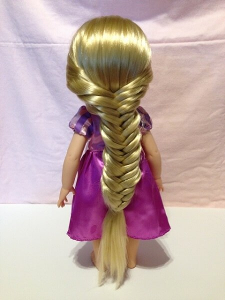 Disney Animator Rapunzel doll with fishtail braid.