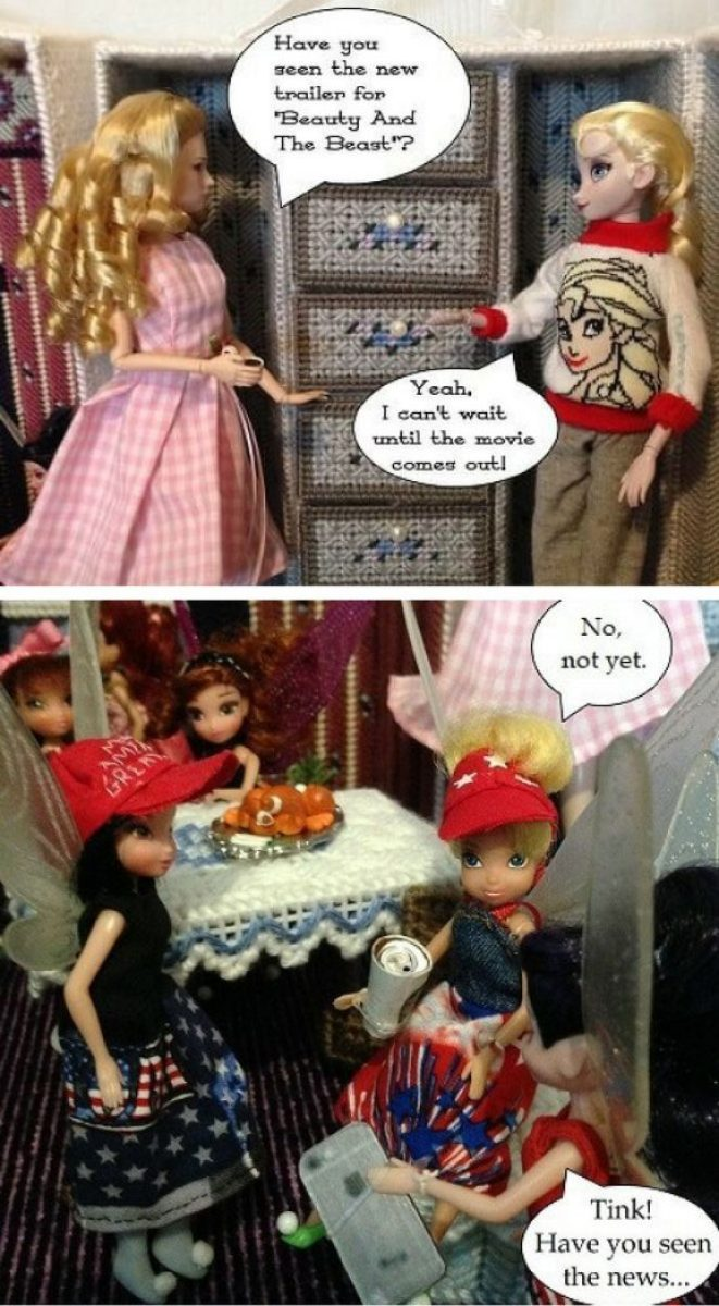Doll Photo Story: Dolls Talking About Upcoming Movies