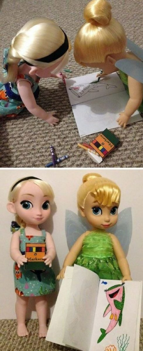 Animator Dolls With DIY Markers And Coloring Book