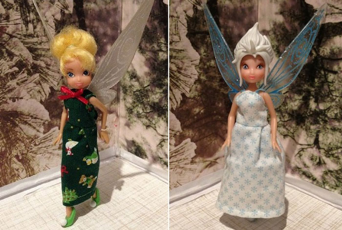 Tinkerbell and Periwinkle dolls