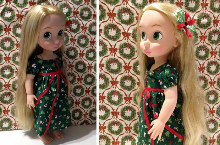 Christmas Outfit For Animator Rapunzel Doll