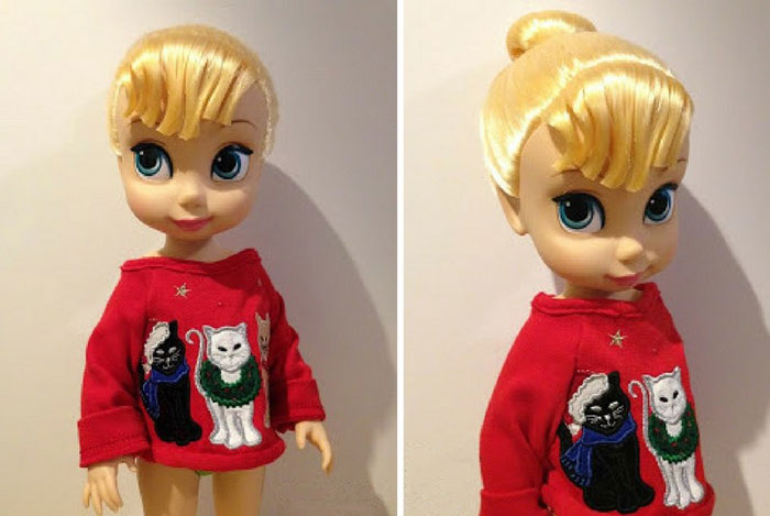 Image Of Tinker Bell Wearing Her Christmas Sweater