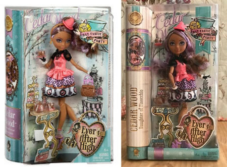 Image Comparing Hat-Tastic Cedar Wood Dolls