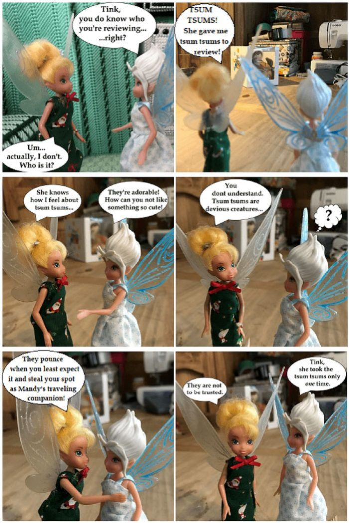 Doll Photo Story: Periwinkle Informs Tink That She Is Reviewing Tsum Tsums