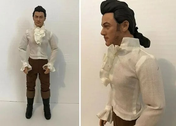 Image Of Gaston Doll Wearing White Shirt