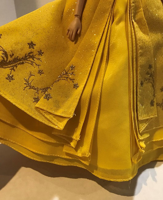 Image Of Ball Gown Skirt From Beauty And The Beast Film Collection Dolls