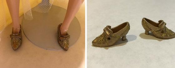 Belle's Gold Shoes