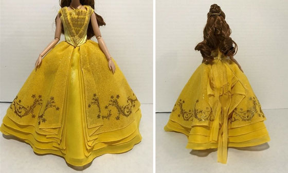 Image Of Belle's Ball Gown: Front And Back