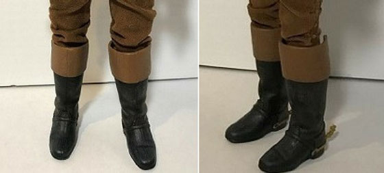 Front And Side View Of Gaston's Boots