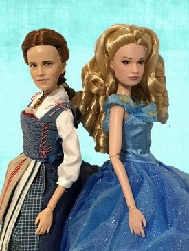Live Action Dolls: Belle And Cinderella