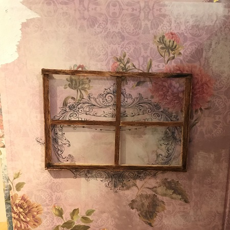 Window Frame Made From Thin Popsicle Sticks