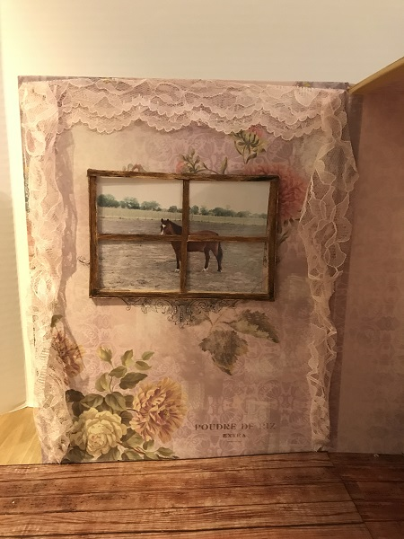Window In Doll Room With Curtains