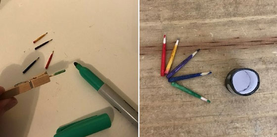 Doll Sized Pencils Made From Toothpicks
