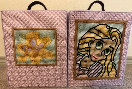 Plastic Canvas Doll Case Inspired By Rapunzel