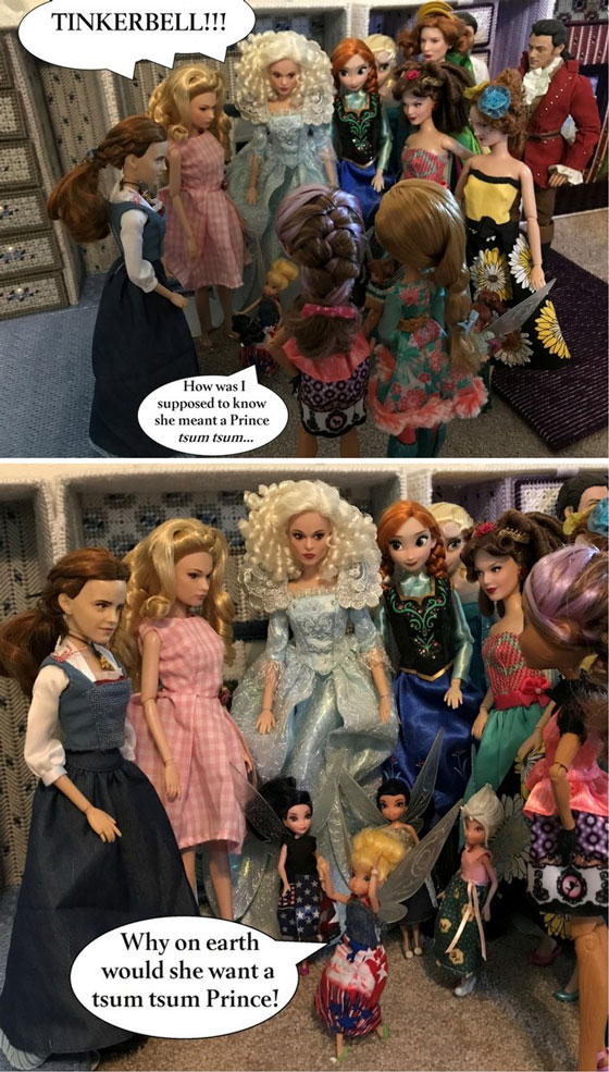 Doll Photo Story: Tinkerbell Wonders Why The Girls Bought More Tsum Tsums