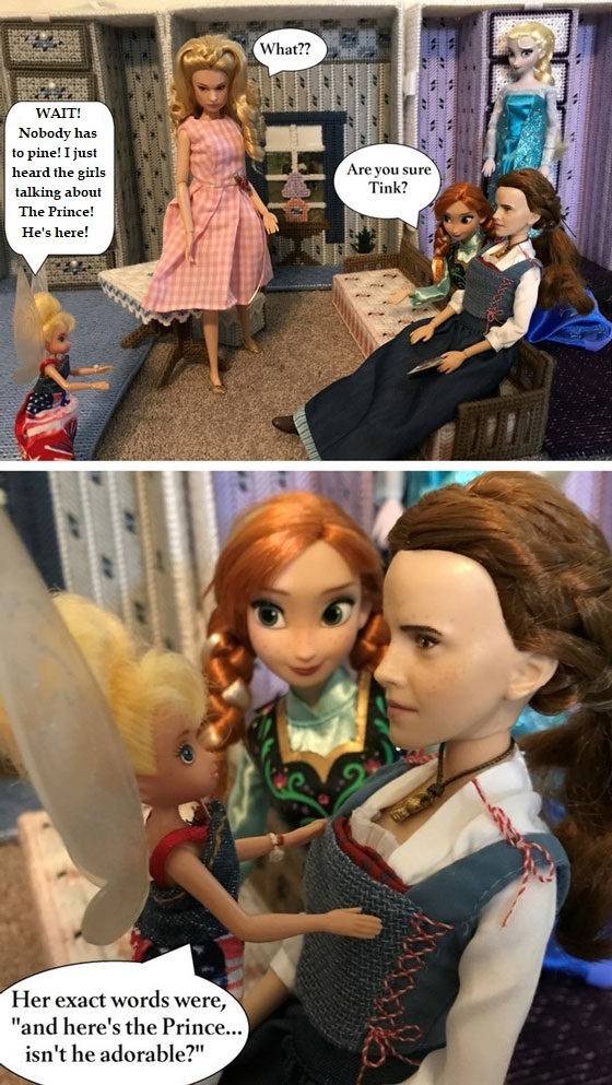 Doll Photo Story: Tinkerbell Announces That The Prince Is Here