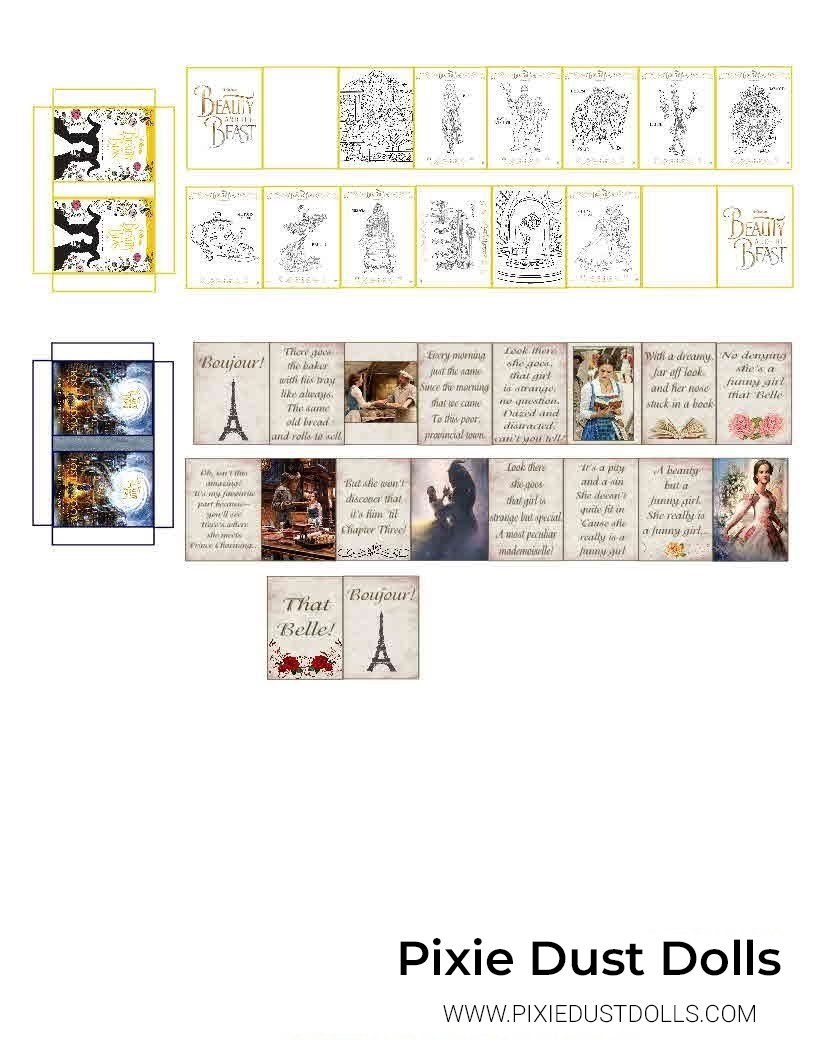 Beauty and The Beast Book Printable.