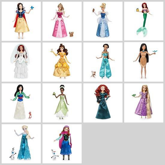 Image of Disney Classic Dolls 2017