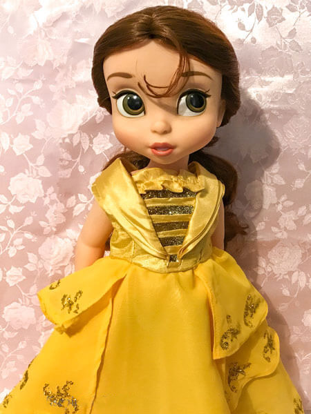 Disney Animator Belle Doll Wearing Yellow Ball Gown