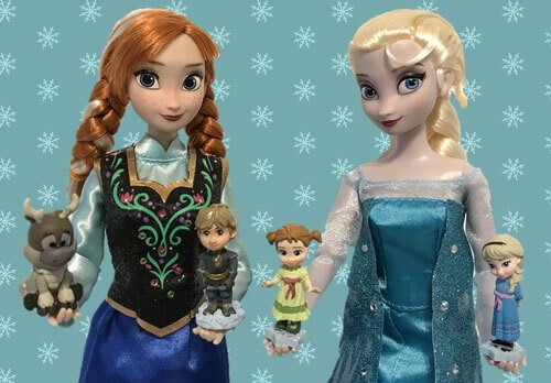 Elsa and Anna Classic Dolls with Animators Littles figures