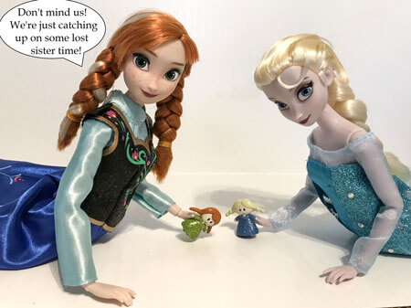 Anna and Elsa dolls with mini figures.