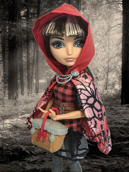 Cerise Hood With Forest Background