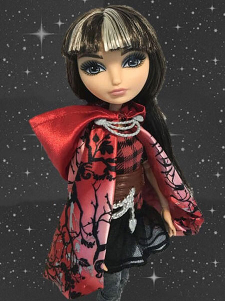 Cerise Hood With Star Background