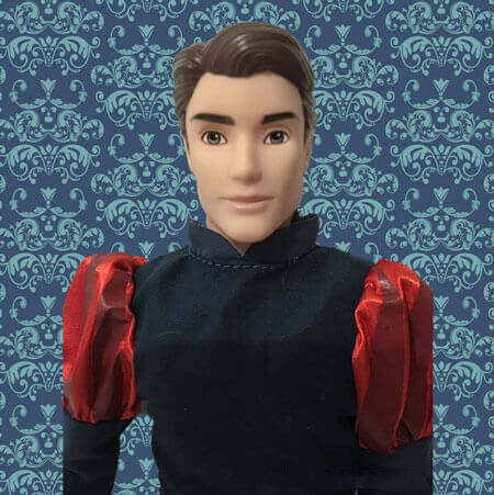 Disney Classic Doll Prince Phillip With Blue Background
