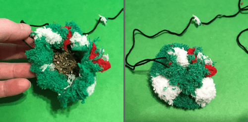 Make a bag for catnip before putting inside cat toy.