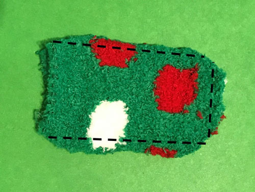 Sew three sides of sock.