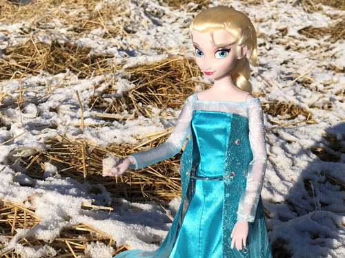 Image Of Elsa Doll Holding A Snowball