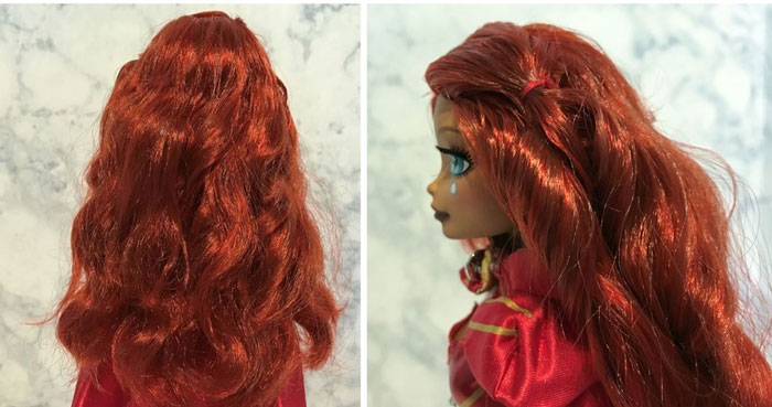 Back And Side View Of Doll's Hair
