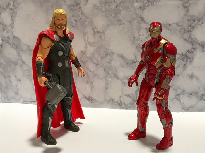 Iron Man and Thor action figures
