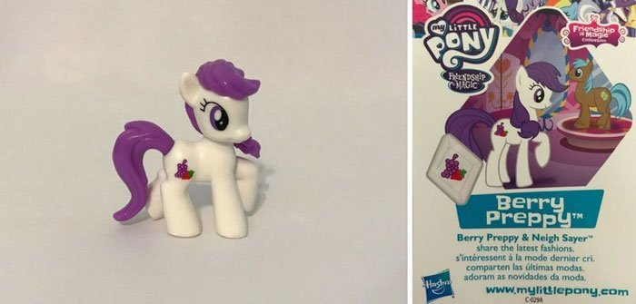 Berry Preppy Pony And Collector Card.