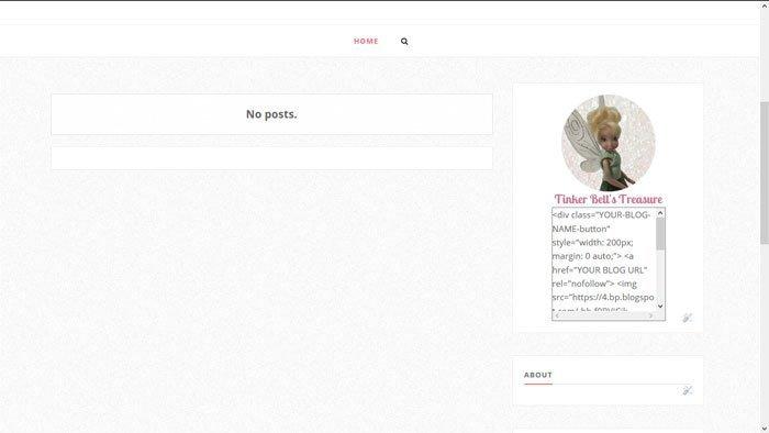 Blog Button For Blogger Blog.