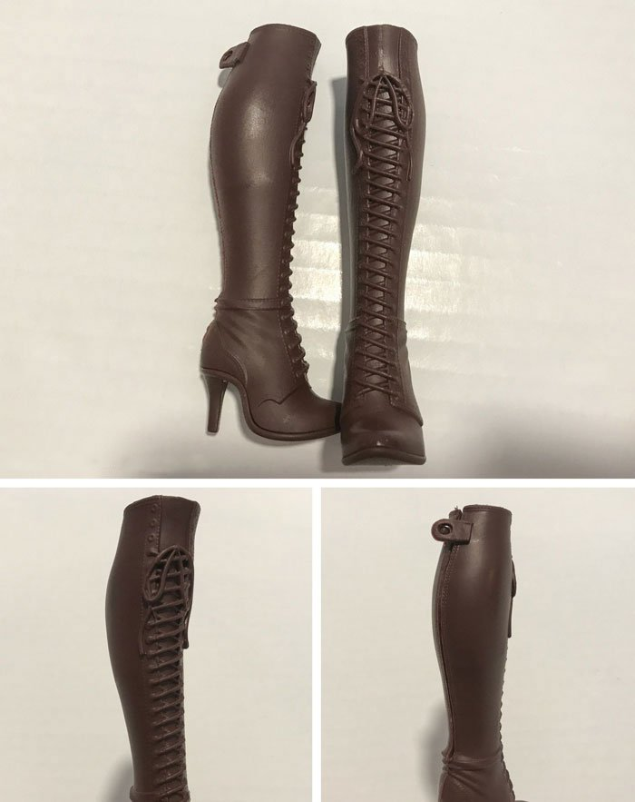 The intricate work on these doll boots is incredible!