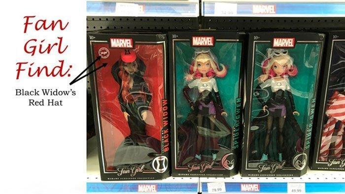 Black Widow Fan Girl Find At Toys R Us.
